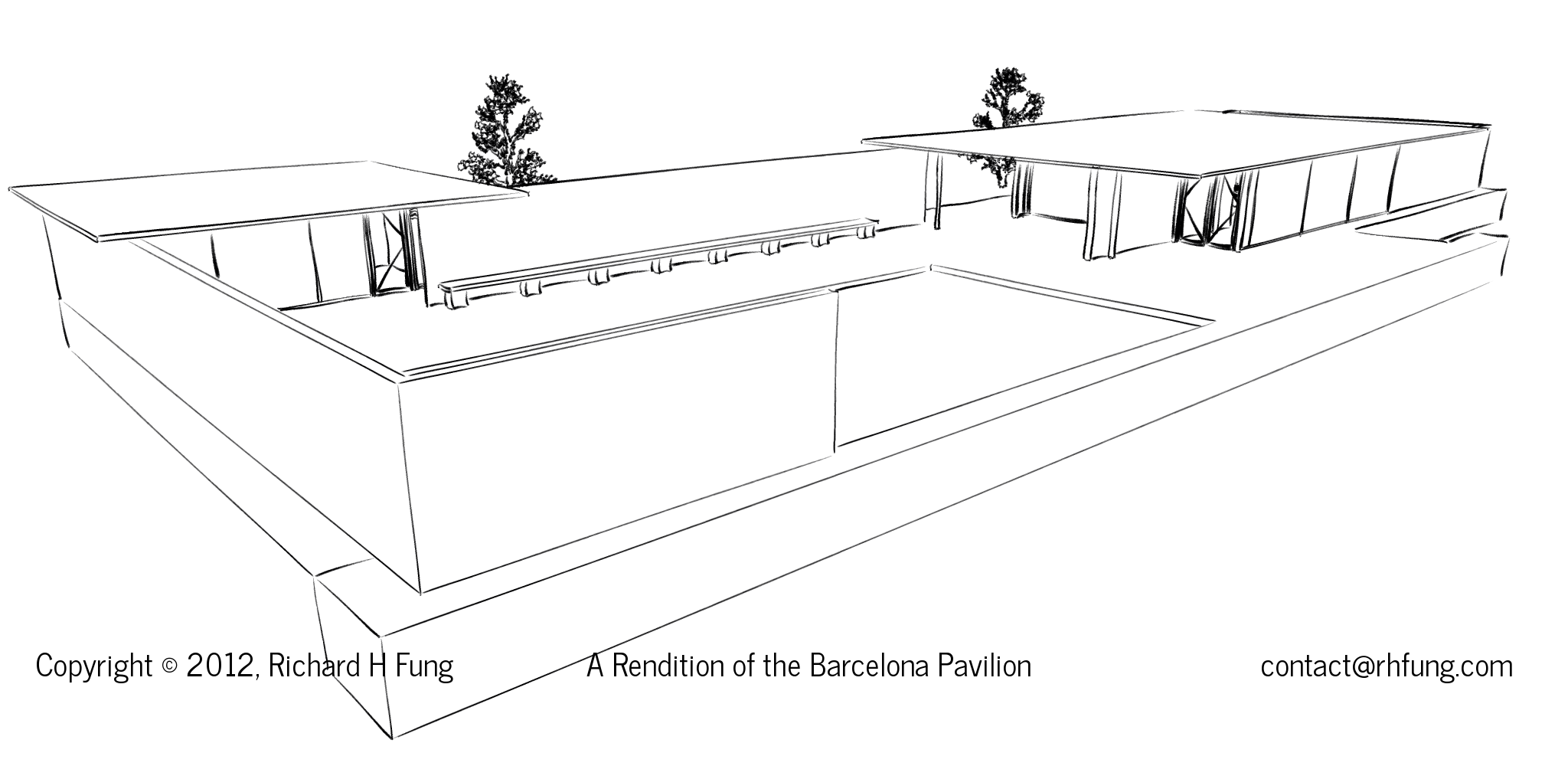 barcelona pavilion drawing. Black Bedroom Furniture Sets. Home Design Ideas