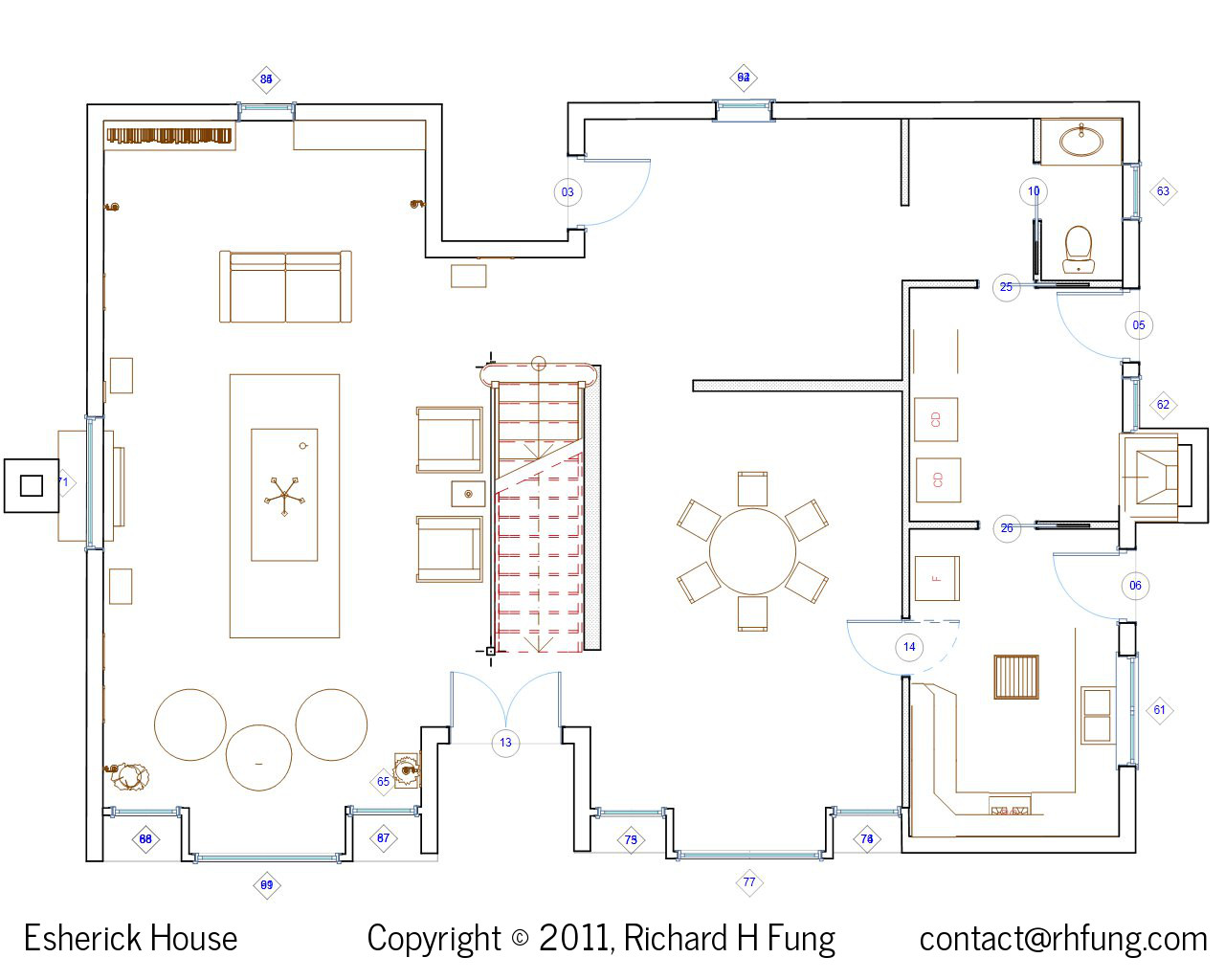 Richard h fung esherick house Home layout planner